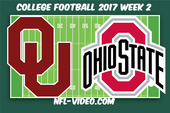 Oklahoma vs Ohio State Football Full Game & Highlights 2017 College Football