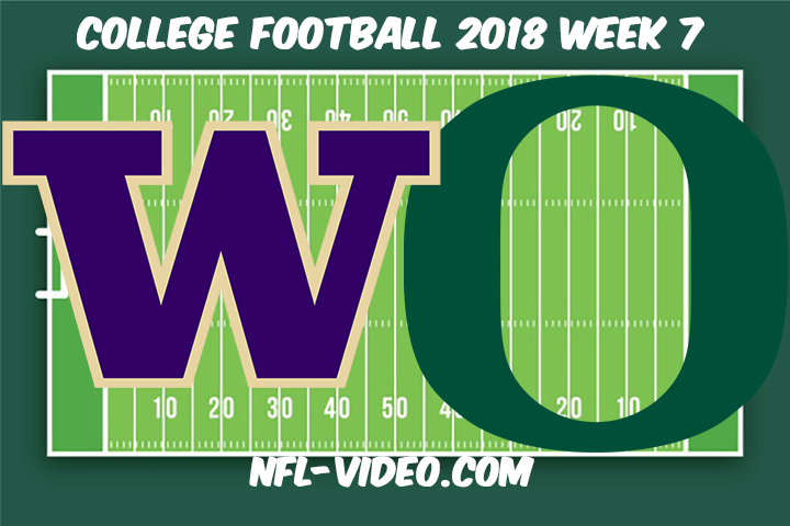 Washington vs Oregon Football Full Game & Highlights 2018 College Football