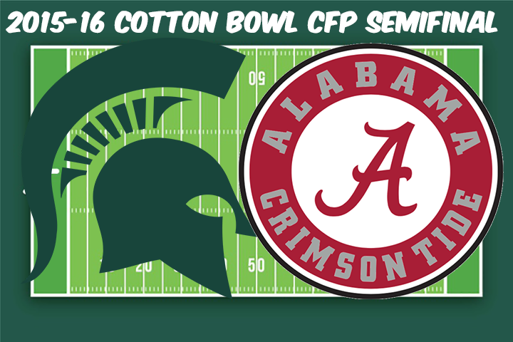 Michigan State vs Alabama Full Game & Highlights 2015 CFP National Championship SemiFinal