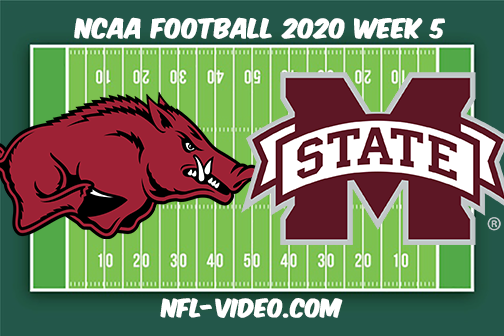 Arkansas vs Mississippi State Football Full Game & Highlights 2020 College Football Week 5