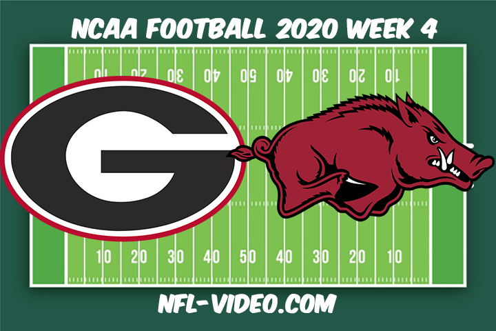 Georgia vs Arkansas Football Full Game & Highlights 2020 College Football Week 4