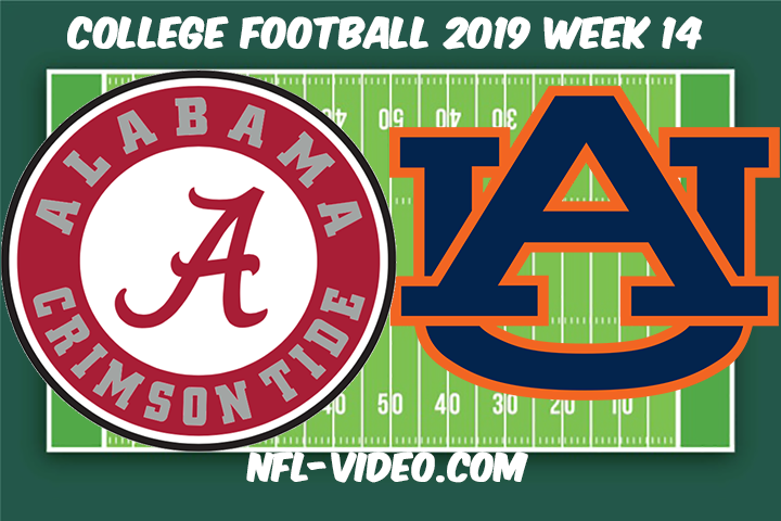 Alabama vs Auburn Football Full Game & Highlights 2019 Week 14 College Football