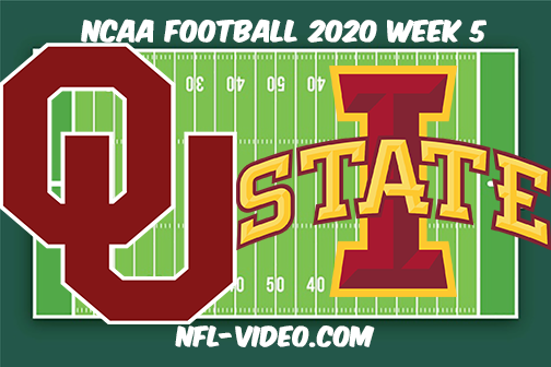 Oklahoma vs Iowa State Football Full Game & Highlights 2020 College Football Week 5