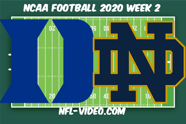 Duke vs Notre Dame Football Full Game & Highlights 2020 College Football Week 2