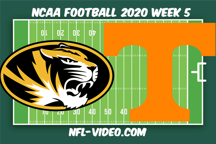 Missouri vs Tennessee Football Full Game & Highlights 2020 College Football Week 5