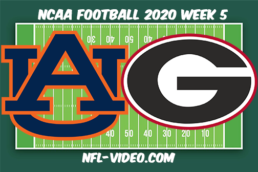 Auburn vs Georgia Football Full Game & Highlights 2020 College Football Week 5