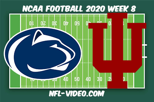 Penn State vs Indiana Football Full Game & Highlights 2020 College Football Week 8