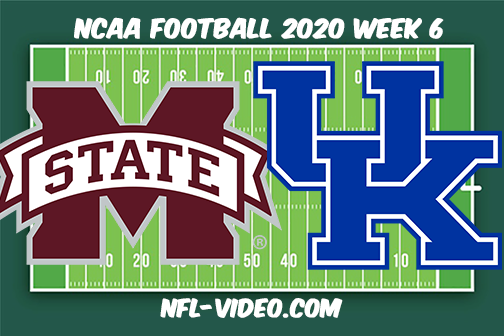 Mississippi State vs Kentucky Football Full Game & Highlights 2020 College Football Week 6