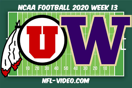 Utah vs Washington Football Full Game & Highlights 2020 College Football Week 13