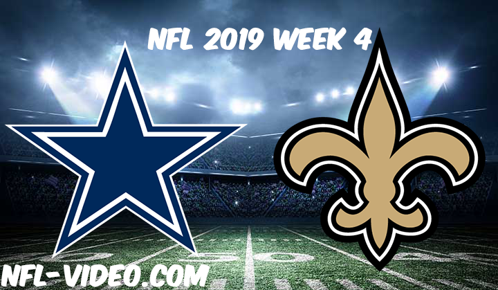 Dallas Cowboys vs New Orleans Saints Full Game & Highlights NFL 2019 Week 4