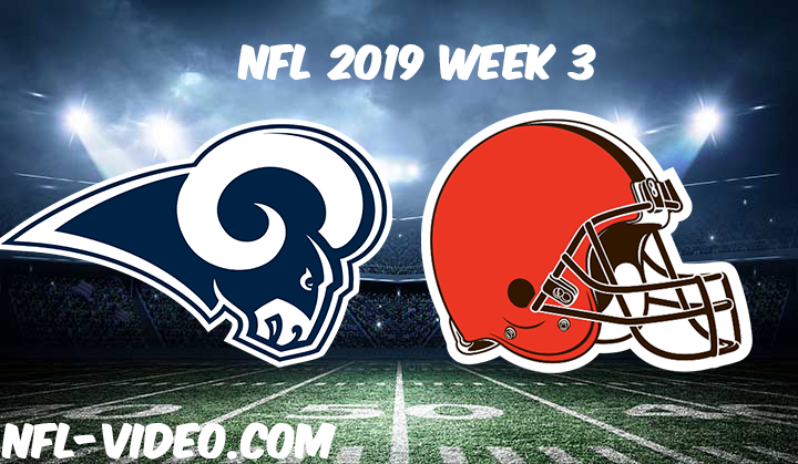 Los Angeles Rams vs Cleveland Browns Full Game & Highlights NFL 2019 Week 3