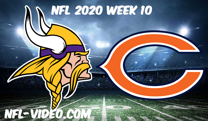 Minnesota Vikings vs Chicago Bears Full Game & Highlights NFL 2020 Week 10