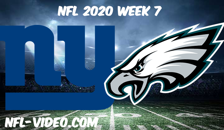 New York Giants vs Philadelphia Eagles Full Game & Highlights NFL 2020 Week 7