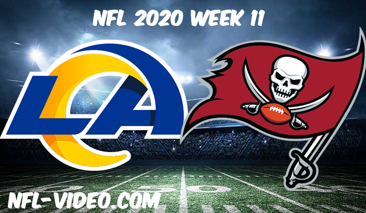Los Angeles Rams vs Tampa Bay Buccaneers Full Game & Highlights NFL 2020 Week 11