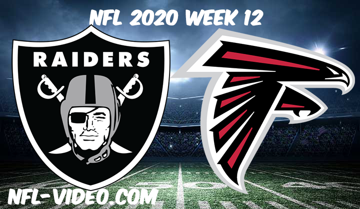 Las Vegas Raiders vs Atlanta Falcons Full Game & Highlights NFL 2020 Week 12