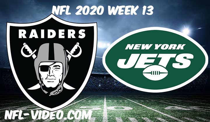 Las Vegas Raiders vs New York Jets Full Game & Highlights NFL 2020 Week 13