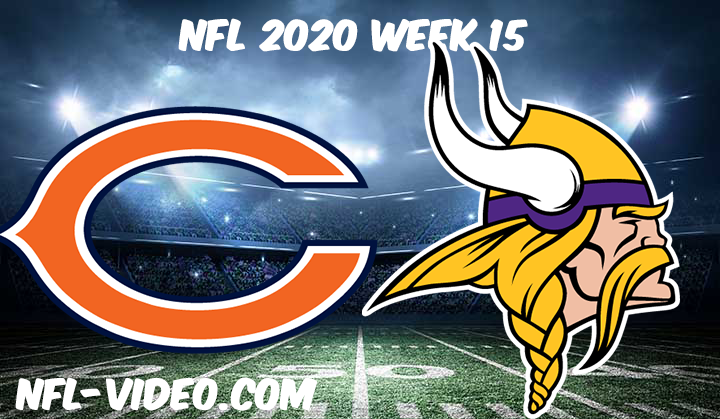 Chicago Bears vs Minnesota Vikings Full Game & Highlights NFL 2020 Week 15